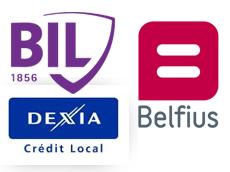 Belfius, BIL and Dexia Crédit Local